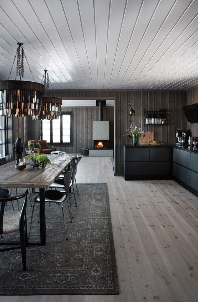 Bilde av kjøkkenet. Finalist nummer 8 årets hyttepris.