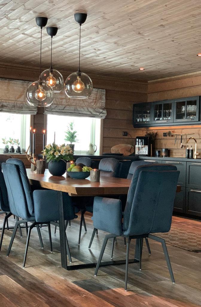 Bilde av kjøkkenkrok. Finalist nummer 7 årets hyttepris 2021