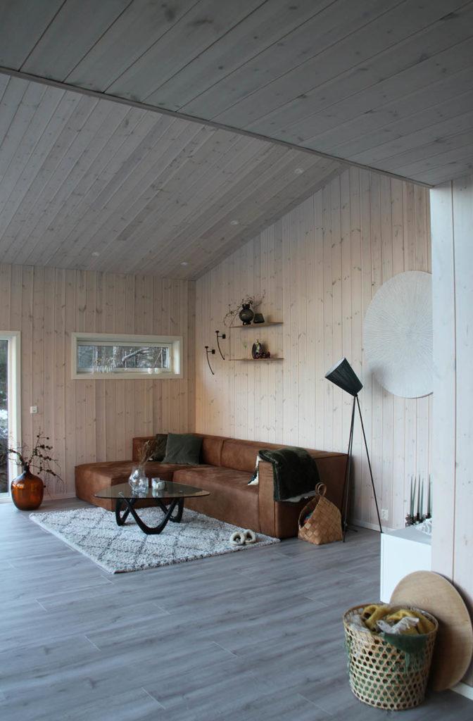 Bilde av stue finalist nummer 2. Hytteprisen 2021.