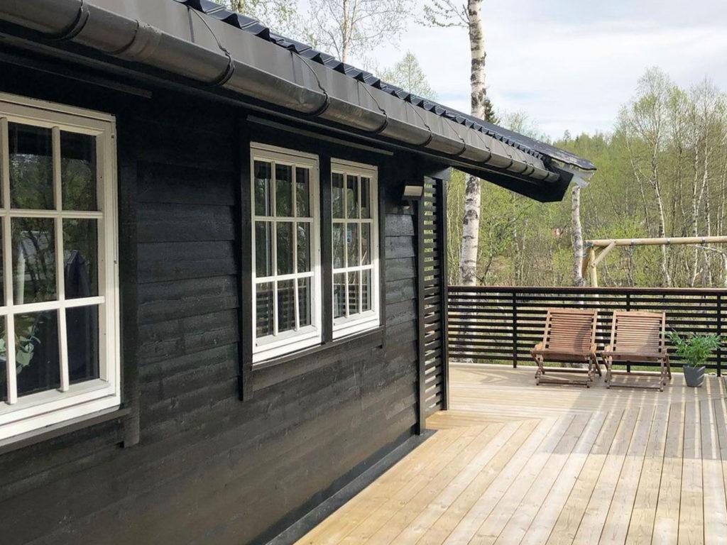 Bilde av terrasse finalist nummer 10. Hytteprisen 2021.